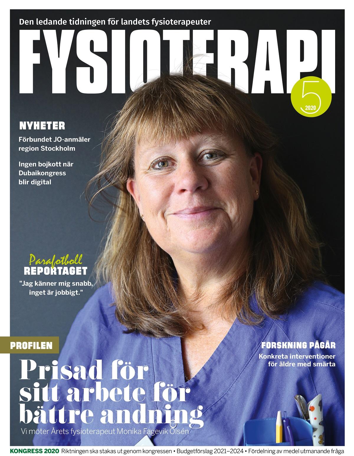 Omslag Tidningen Fysioterapi nr 5 2020