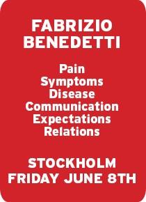 Annons Holteninstitute Fabrizio Benedetti Stockholm 8 juni